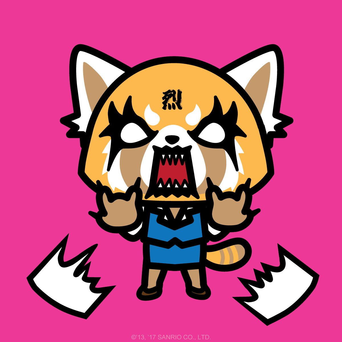 Wall Stickers Office Meet Sanrio S Newest Character Aggretsuko A Red Panda
