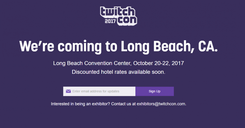 TwitchCon 2017 Dates Announced; Event Moves To Long Beach In October
