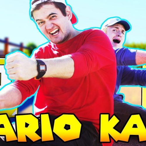 Mario Kart as a real-life stop motion video