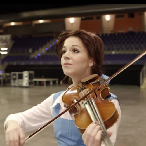 Lindsey Stirling shines as Belle in Beauty and the Beast video