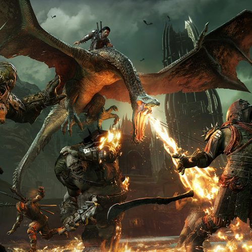 Middle-earth: Shadow of War gameplay shows off fire-drake and giant battle