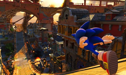 Sonic speeds by in the gameplay reveal of Sonic Forces