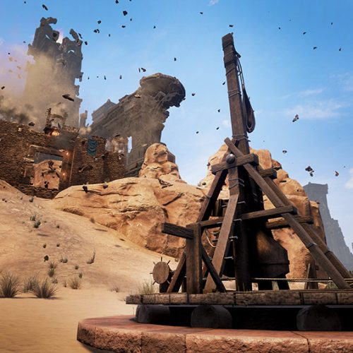 Conan Exiles new updates to include storing rotten corpses, then launching them with trebuchet
