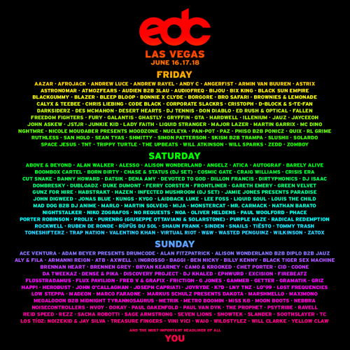 EDC 2017 lineup revealed; includes Zedd, Porter Robinson, Madeon