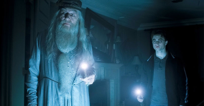 Harry Potter and the Half-Blood Prince - Michael Gambon and Daniel Radcliffe