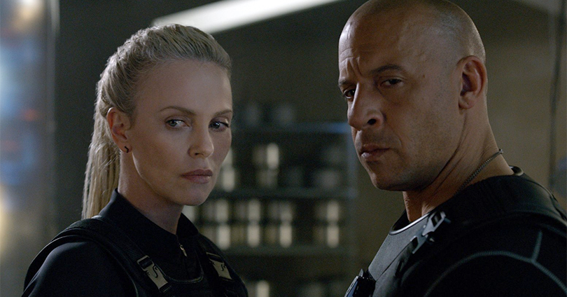 The Fate of the Furious - Charlize Theron and Vin Diesel