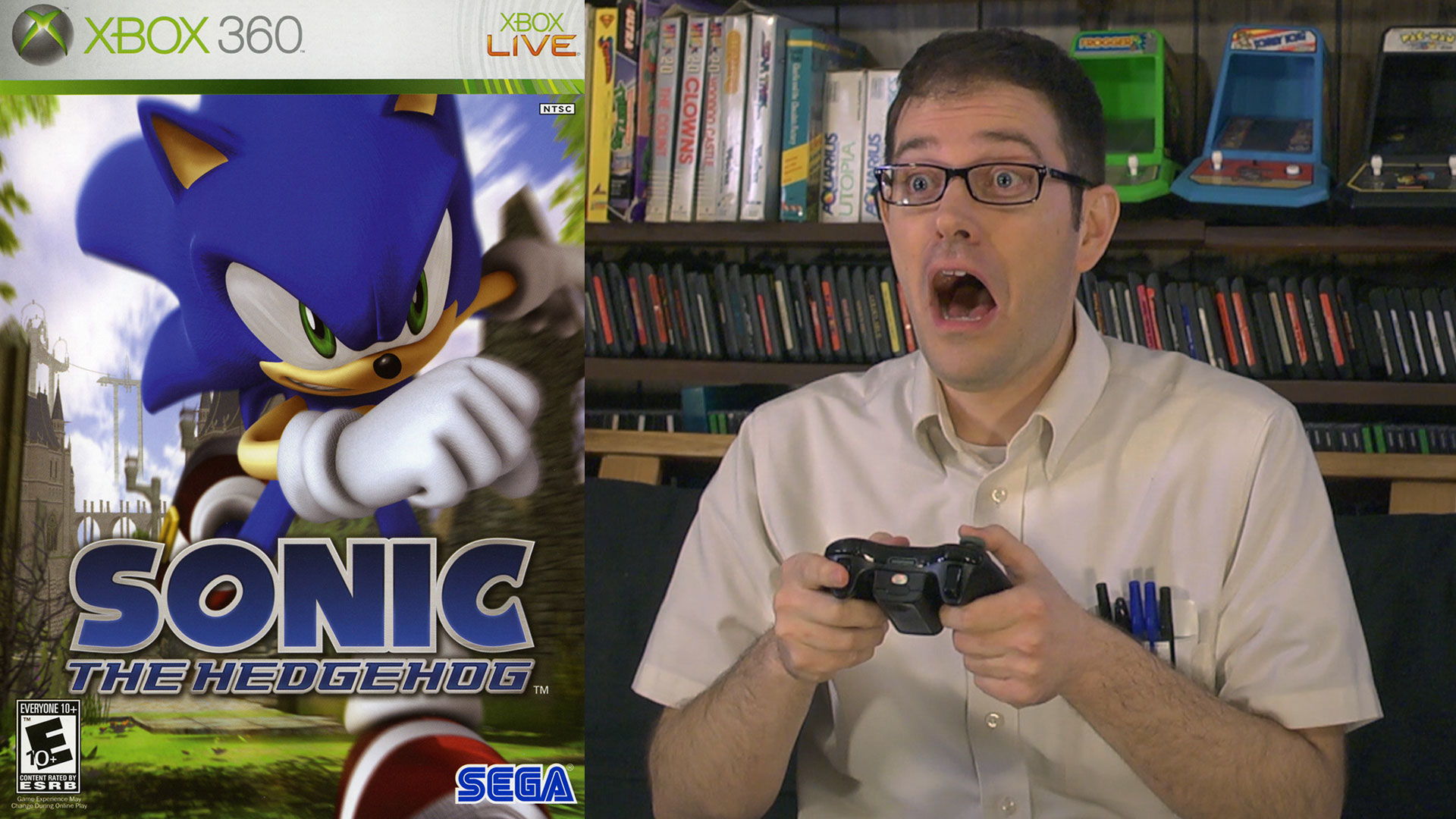 Angry Video Game Nerd Fulfills Demand For Angry Sonic 06 Review