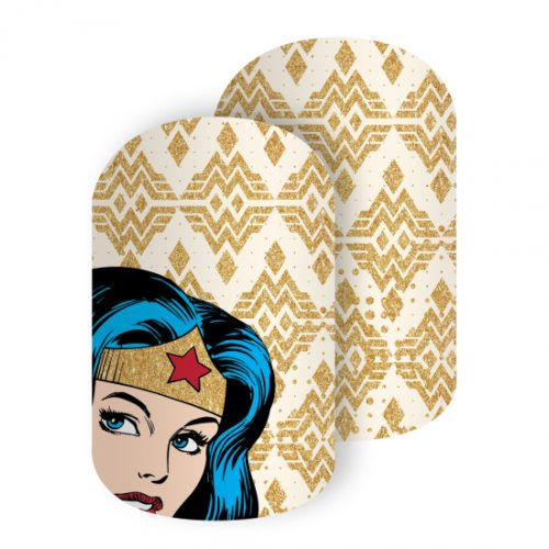 Show off your Wonder Woman love with these Jamberry nail wraps