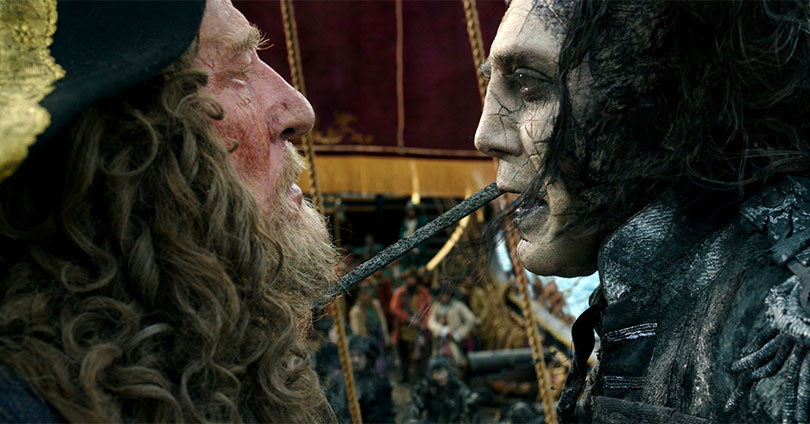 Pirates of the Caribbean: Dead Men Tell No Tales - Geoffrey Rush and Javier Bardem