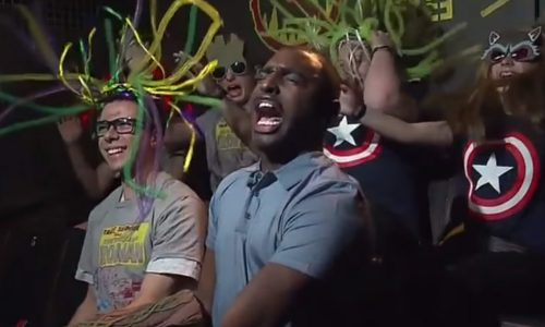 Reporter panics on new Guardians of the Galaxy ride at Disneyland