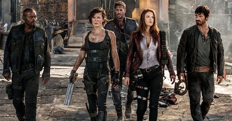 Resident Evil: The Final Chapter - Milla Jovovich, Ali Larter, Eoin Macken, Fraser James, and William Levy