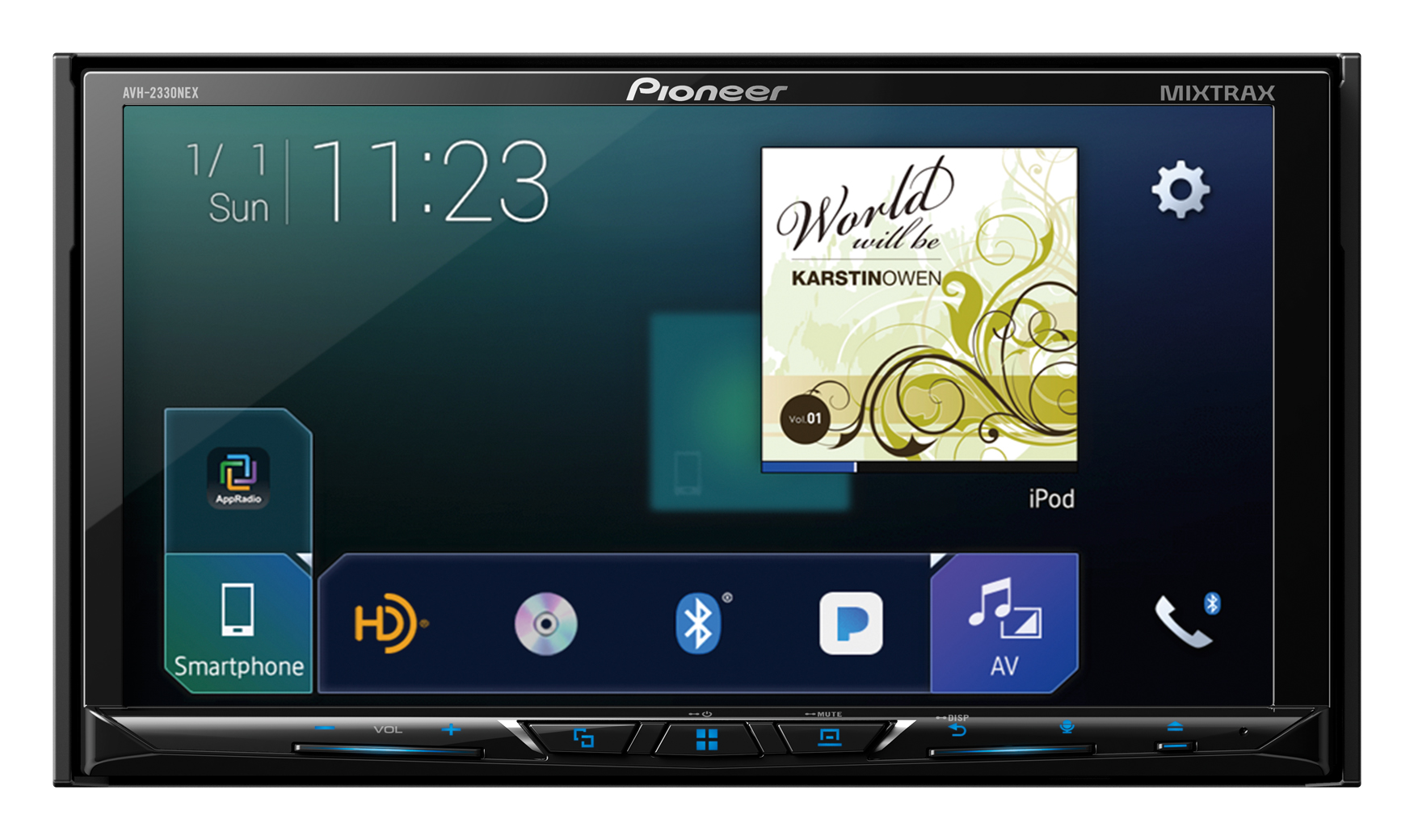 Pioneer AVH 2330NEX_350dpi5in smartphones and driving made easier with pioneer nex receivers  at readyjetset.co
