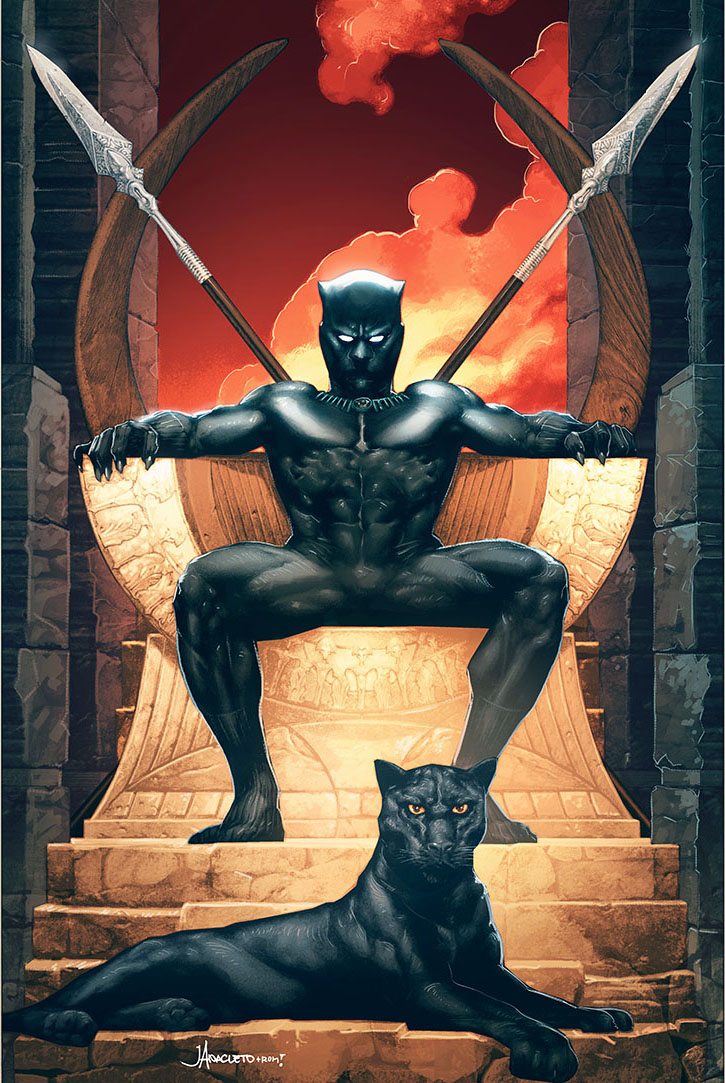 Jay Aceleto variant cover for Black Panther #4