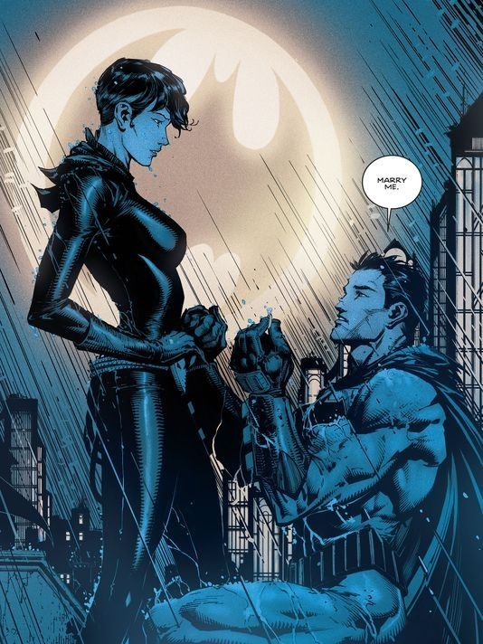 Batman Bruce Wayne Catwoman proposal