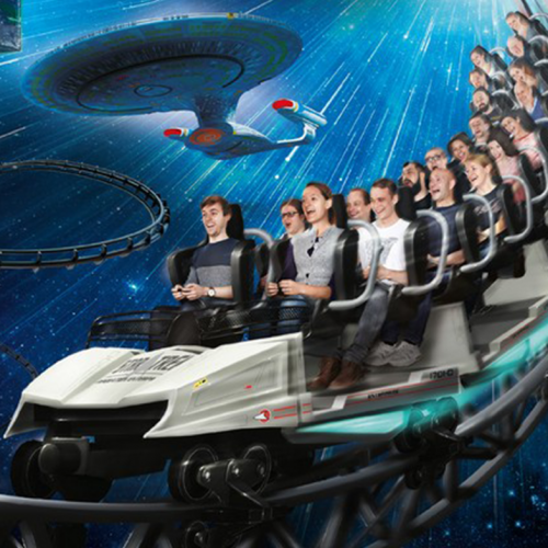Blast off on the world's first official 'Star Trek' ride!