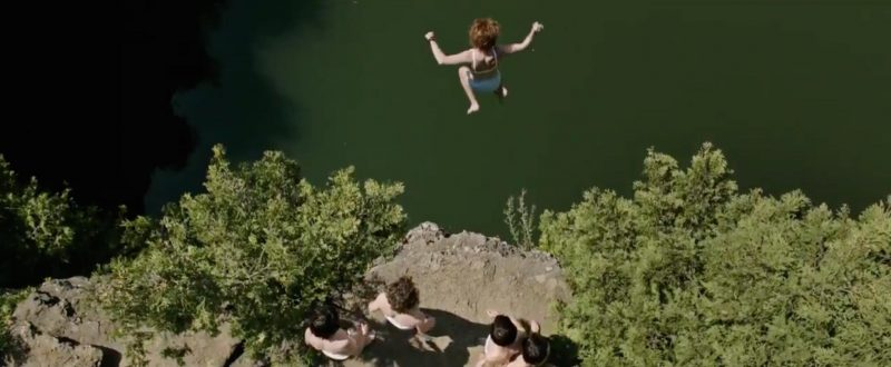 Image result for it losers club underwear cliff jumping