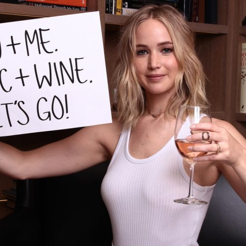 Jennifer Lawrence wants to drink wine and talk politics with YOU