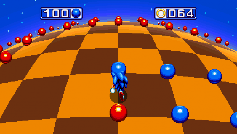 Blue Spheres Special Stage Makes a Return in Sonic Mania