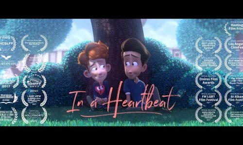 Touching animated short, In a Heartbeat, about a boy coming out