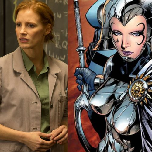 Jessica Chastain gets ready for X-Men: Dark Phoenix as Shi'ar Empress Lilandra