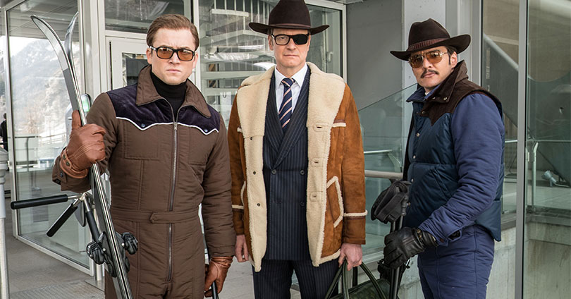 Kingsman: The Golden Circle - Taron Egerton, Colin Firth, and Pedro Pascal