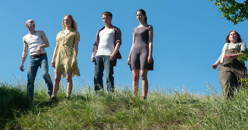 Leatherface - James Bloor, Jessica Madsen, Sam Strike, Vanessa Grasse, and Sam Coleman