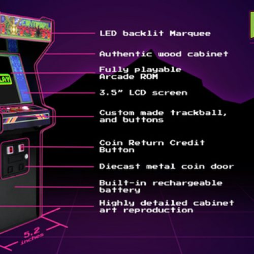 Here's your chance to own a Centipede mini arcade cabinet