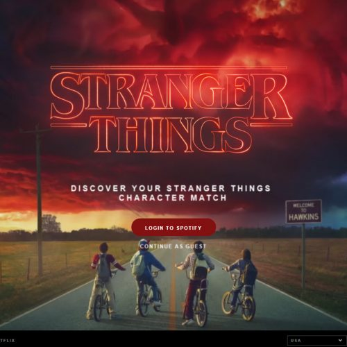 Spotify will match you with a Stranger Things character and their playlist