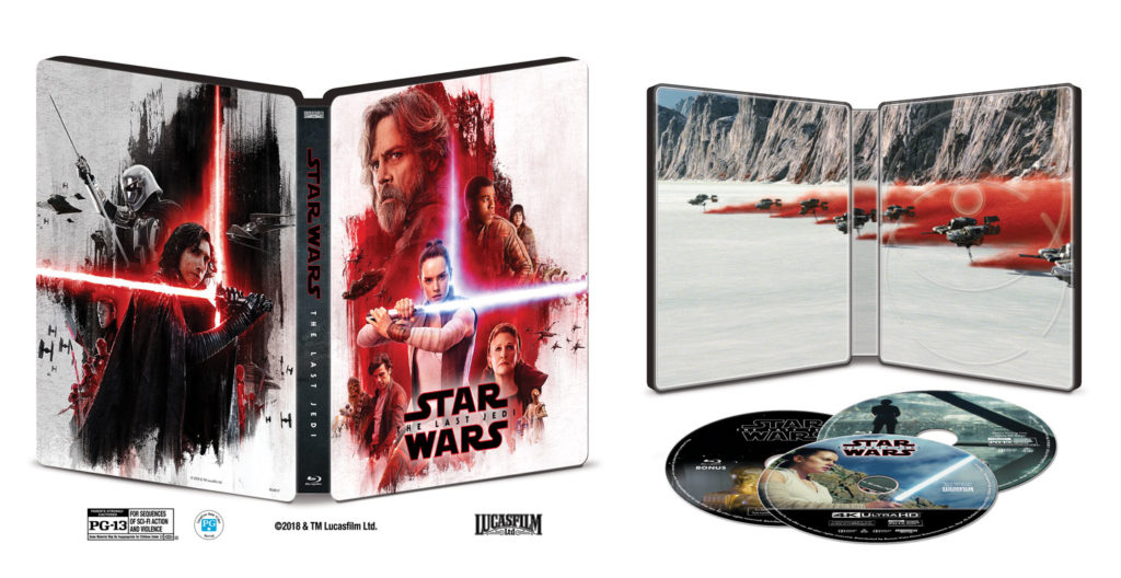 Star Wars: The Last Jedi Blu-ray Steelbook 4K Ultra HD Inside