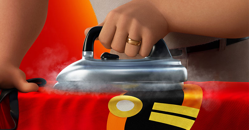 Incredibles 2 - Bob Ironing Poster