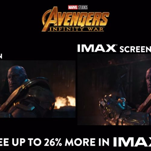 Avengers: Infinity War IMAX side-by-side comparison trailer