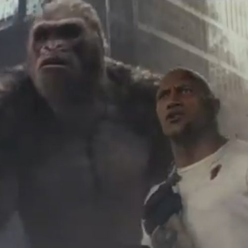 Dwayne 'The Rock' Johnson runs for his life in Rampage teaser trailer