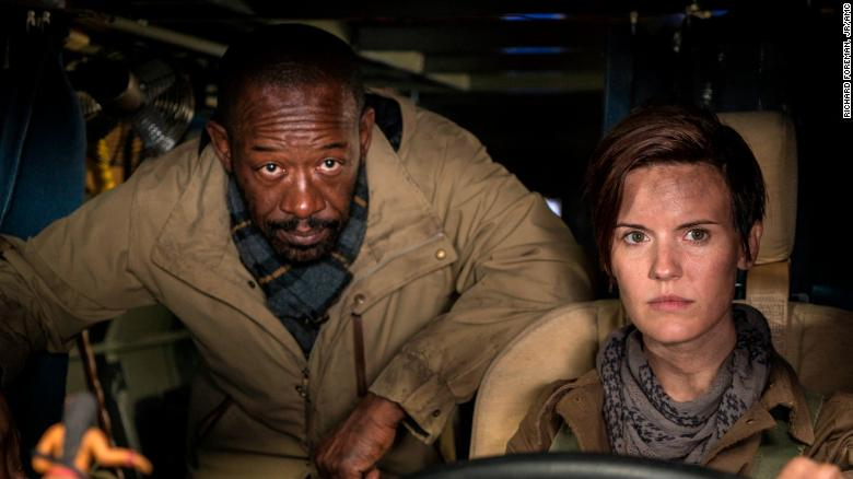 Fear the Walking Dead Season 4 - Lennie James and Maggie Grace