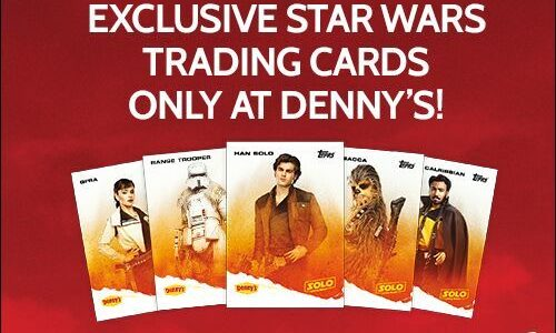 Denny's to offer Solo: A Star Wars Story cards, cups and themed food