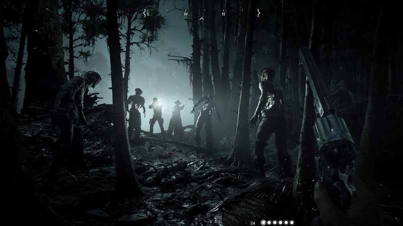 Fighting online players and creatures in Hunt: Showdown