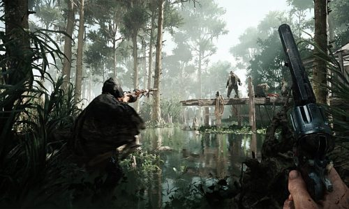 Fighting online players and creatures in Hunt: Showdown Early Access