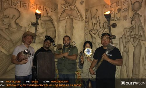 Quest Room's Red Giant escape room transports you into an Egyptian tomb