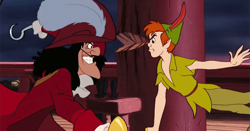Peter Pan - Captain Hook and Peter Pan