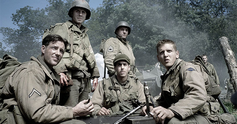 Saving Private Ryan - Edward Burns, Giovanni Ribisi, Adam Goldberg, Tom Sizemore, and Barry Pepper