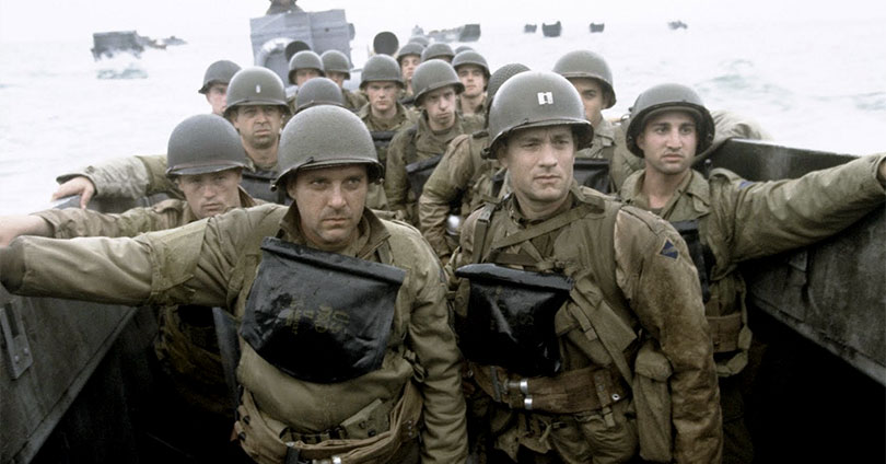 Saving Private Ryan - Tom Sizemore and Tom Hanks