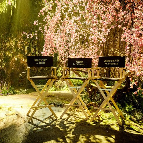 Angelina Jolie and Elle Fanning post photos on Maleficent 2 set