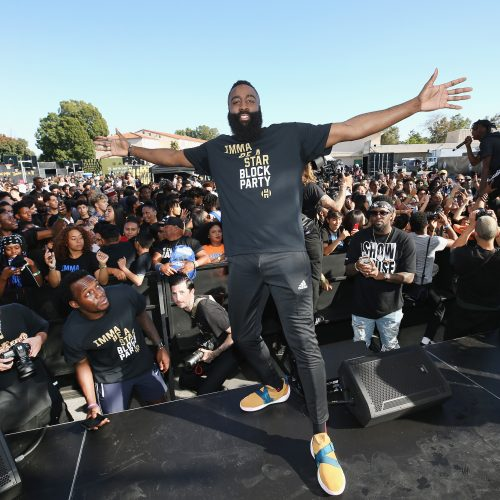 Adidas and James Harden give back to his former middle school