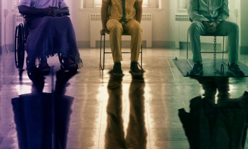 Glass poster features Samuel L. Jackson, Bruce Willis and James McAvoy
