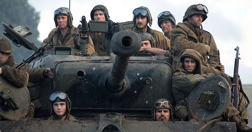 Fury - Brad Pitt, Shia BaBeouf, Logan Lerman, Michael Pena, Jon Bernthal, and Scott Eastwood
