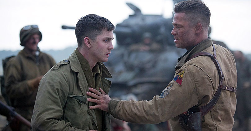 Fury - Logan Lerman & Brad Pitt