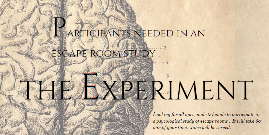 the experiment get the f out escape room