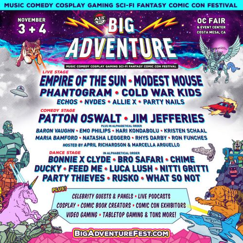 Alt 98.7 presents Big Adventure festival with comedy, gaming, music, and more!