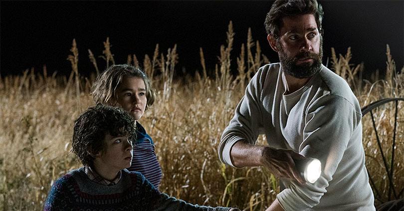 A Quiet Place - Noah Jupe, Millicent Simmonds, & John Krasinski