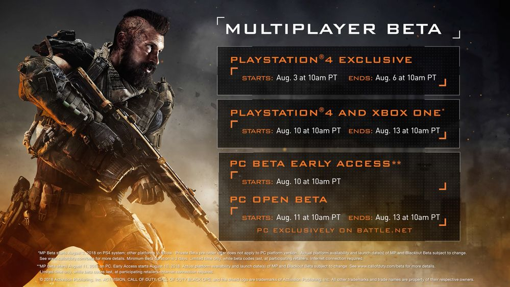call of duty multiplayer beta