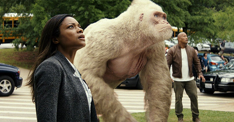 Rampage - Naomie Harris & Dwayne Johnson